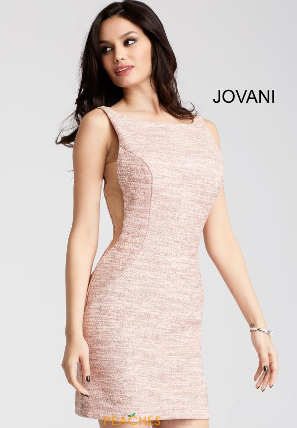 Jovani Cocktail High Neckline Dress 42863