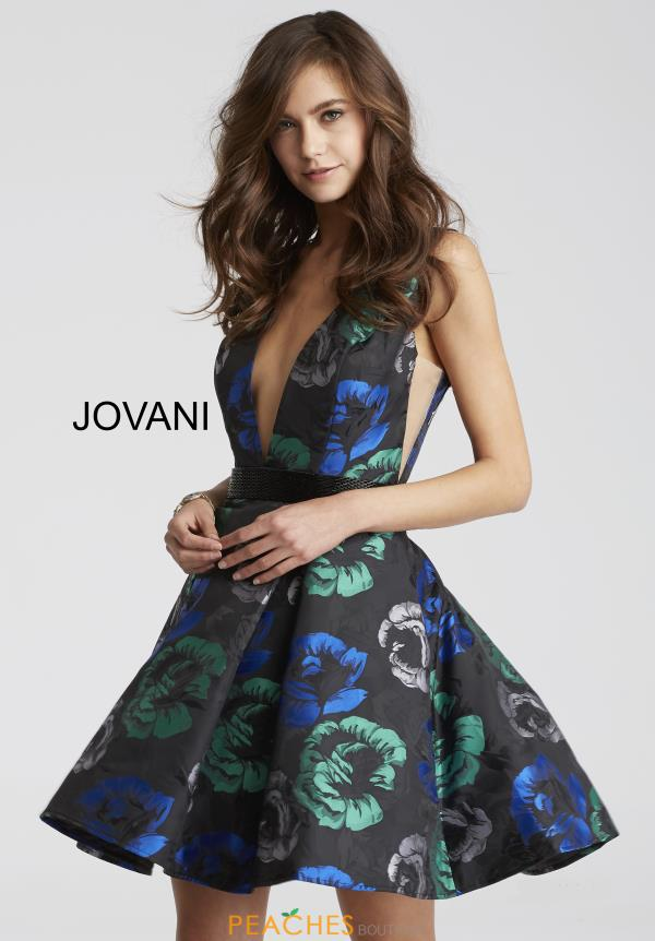 Jovani Cocktail Print Dress 43097