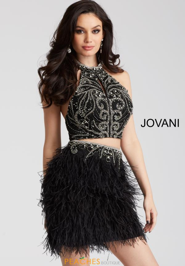 Jovani Cocktail Black Two Piece Dress 51527