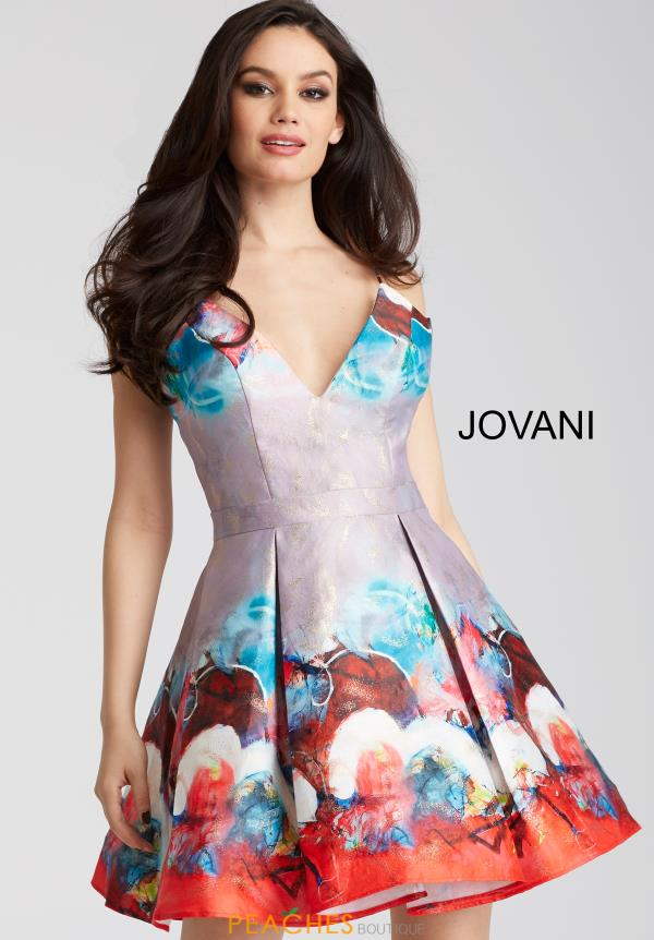 Jovani Cocktail Print Dress 51793