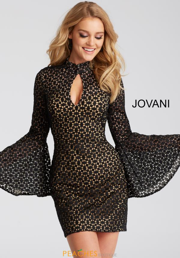 Jovani Cocktail Sleeved Dress 51994
