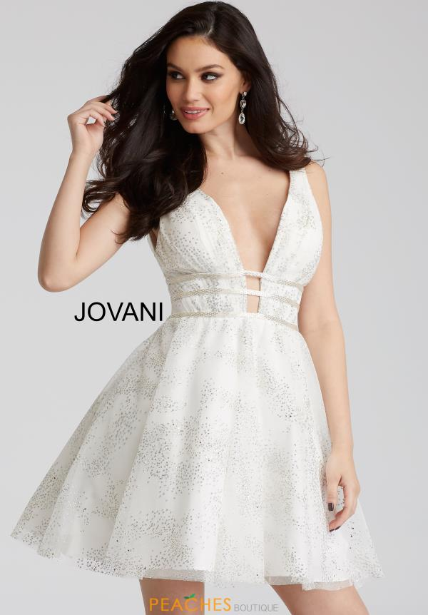 Jovani Cocktail V- Neckline Dress 52142