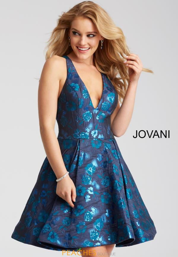 Jovani Cocktail V- Neckline Dress 52154