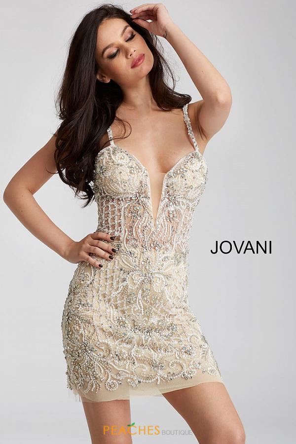 Jovani Short Dress 52257 | PeachesBoutique.com