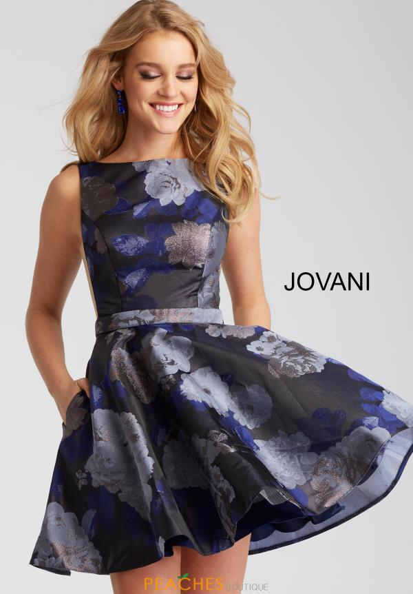 Jovani Cocktail High Neckline Dress 52283