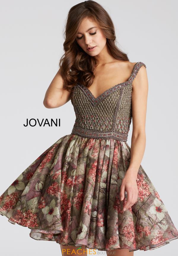 Jovani Cocktail A Line Dress 53044