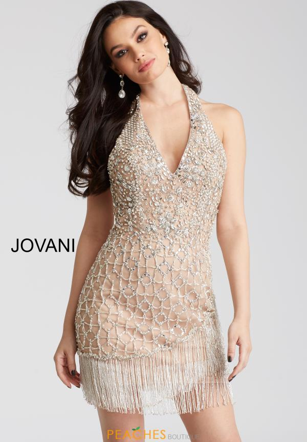 Jovani Cocktail Beaded Dress 53094