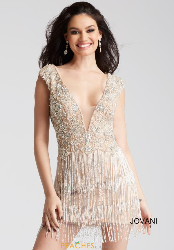 Jovani Cocktail Fringe Dress 53095