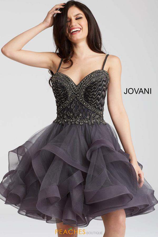 Jovani Cocktail Beaded Dress 54414