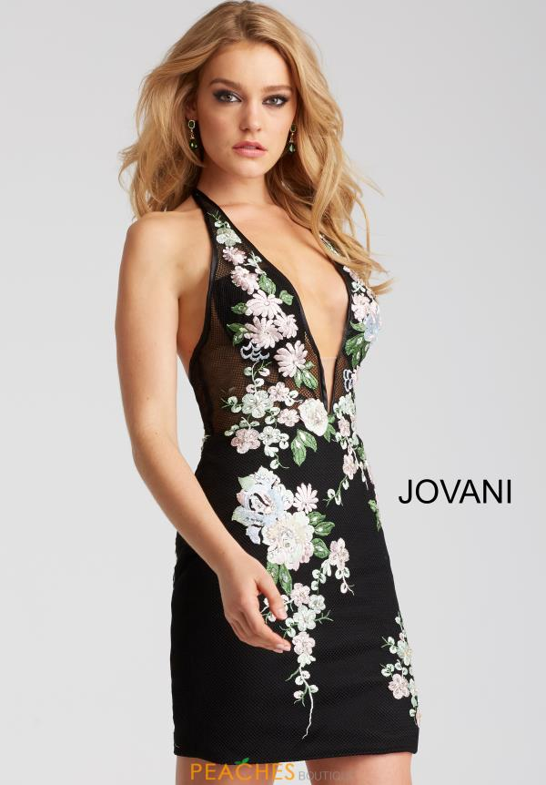 Jovani Cocktail V- Neckline Dress 54453