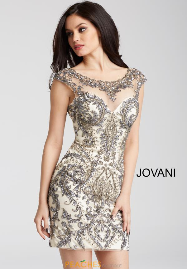 Jovani Cocktail Sleeved Dress 54548