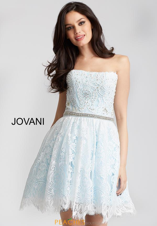 Jovani Cocktail Strapless Dress 54588