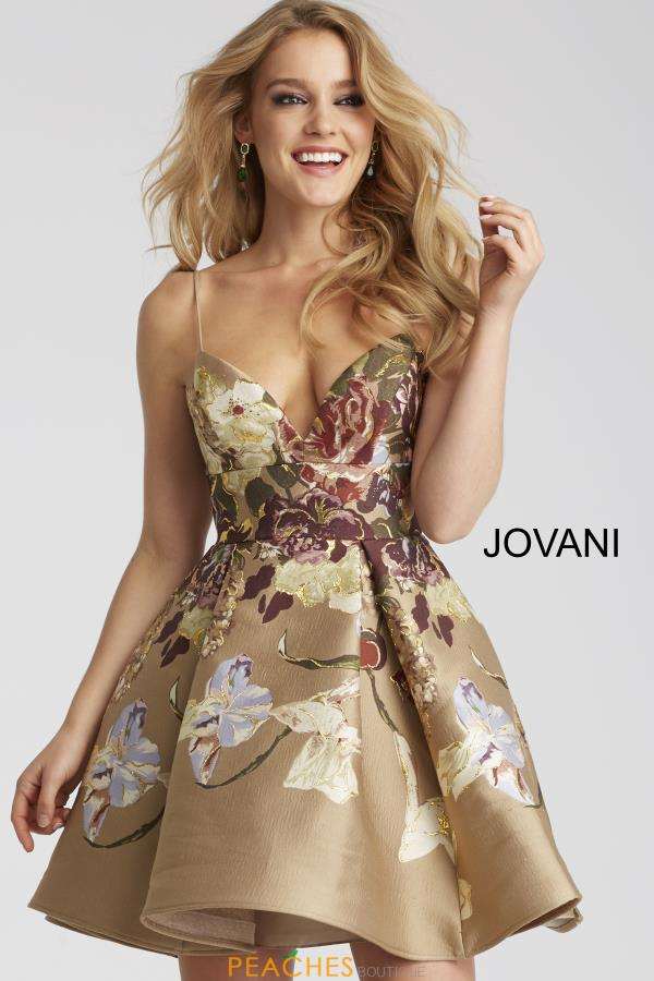 Jovani Cocktail Print Dress 54992