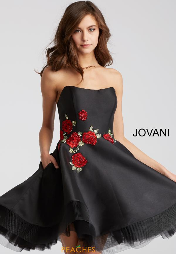 Jovani Cocktail Strapless Dress 55136