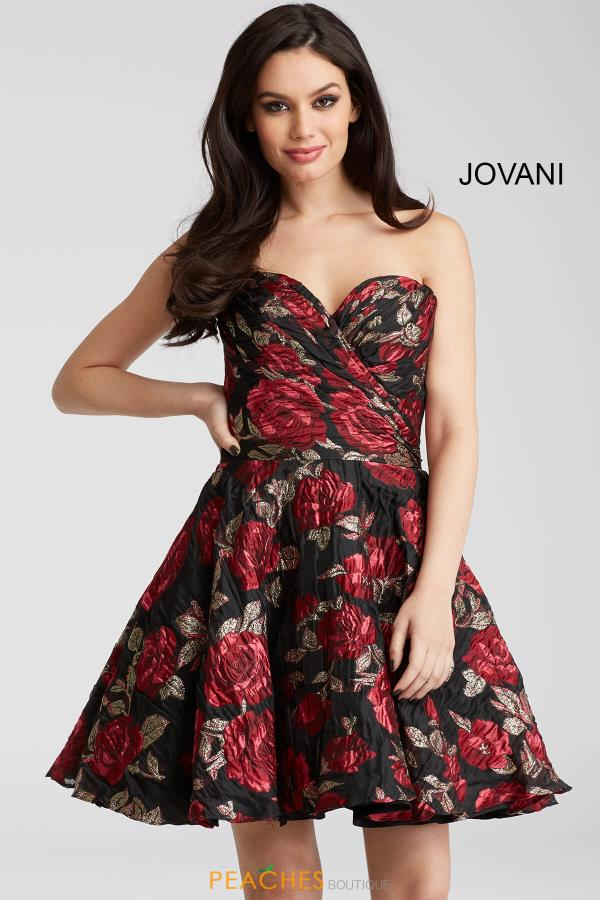 Jovani Cocktail Print Dress 55633