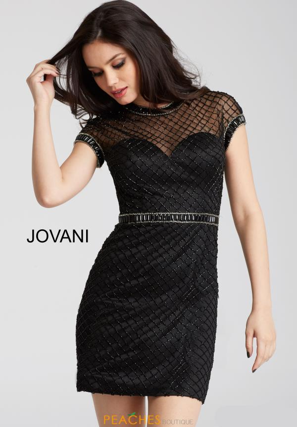 Jovani Cocktail Sleeved Dress 55852
