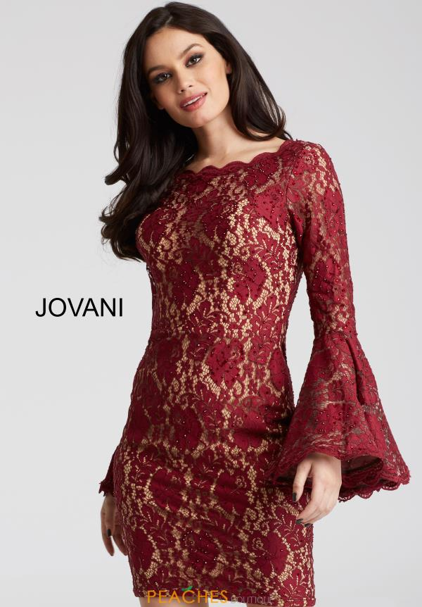 Jovani Cocktail Sleeved Dress 58594