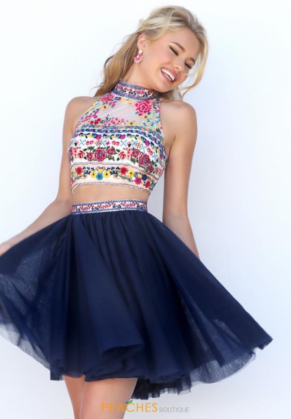 Short Halter Top Formal Dresses