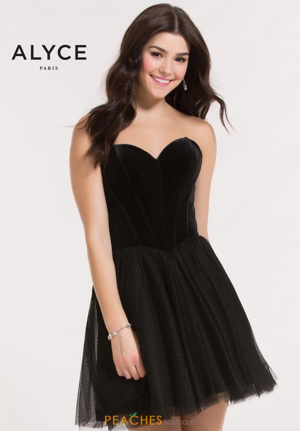 Alyce Short Strapless A Line Dress 2635