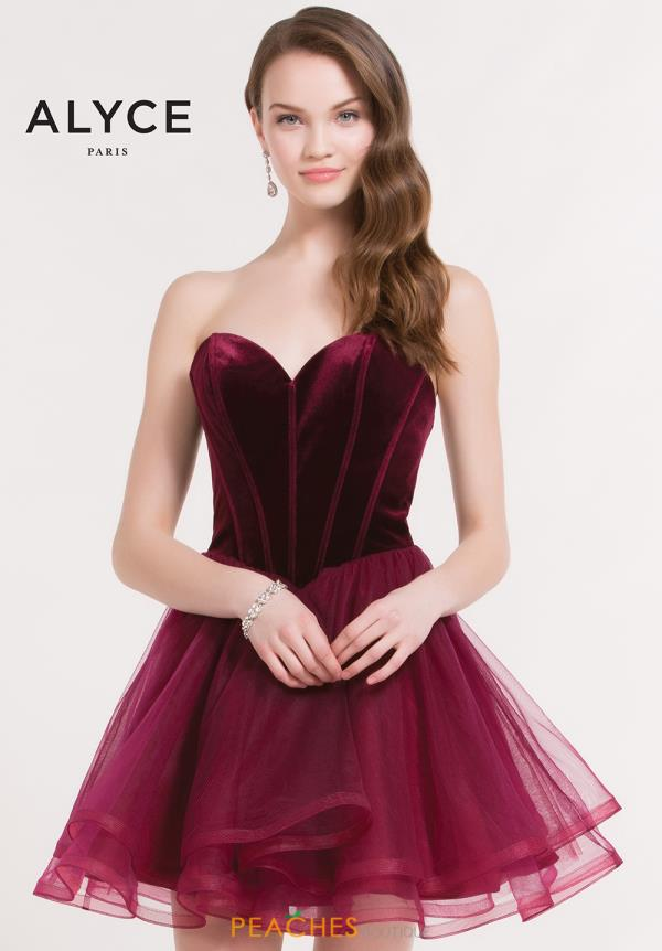 Alyce Short Sweetheart Neckline A Line Dress 2643