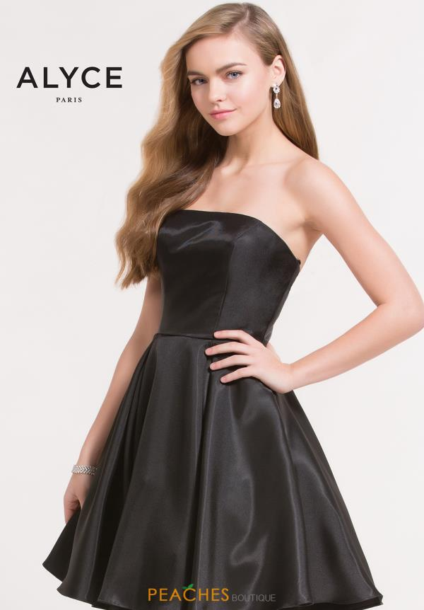 Alyce Short Strapless A Line Dress 3700