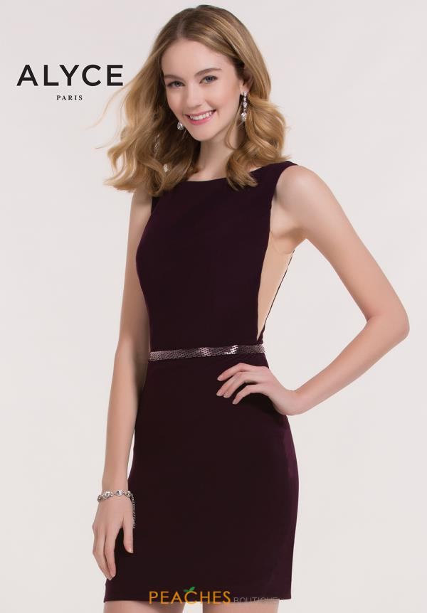 Alyce Short High Neckline Dress 4468