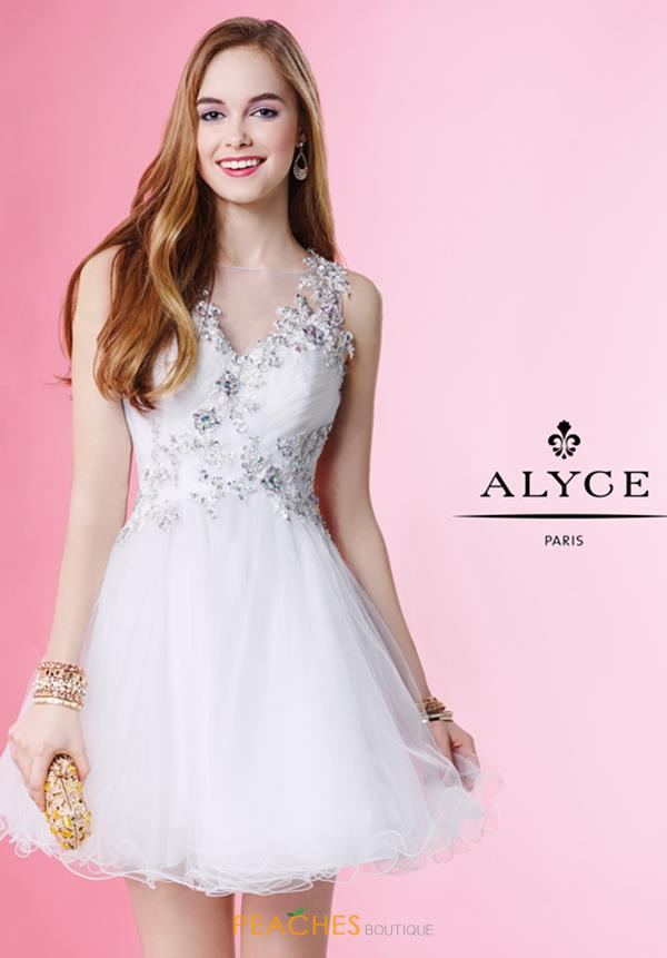 Alyce Short Lace Beaded Dress 1053