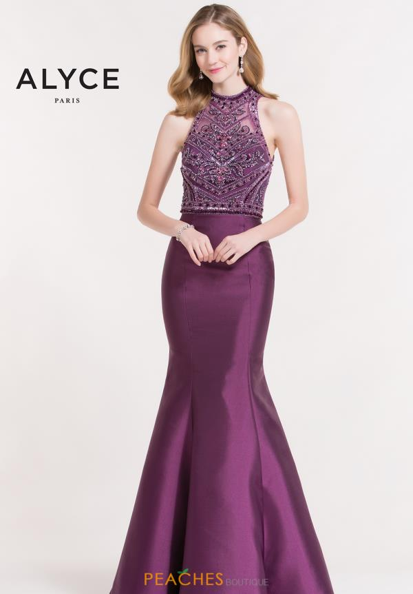 Alyce Paris Beaded Mermaid Dress 6886