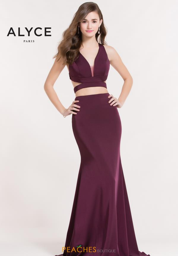 Alyce Paris Fitted Two Piece Dress 8032