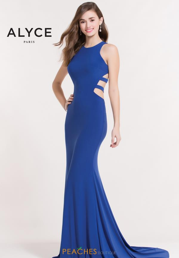 Alyce Paris Fitted Blue Dress 8042