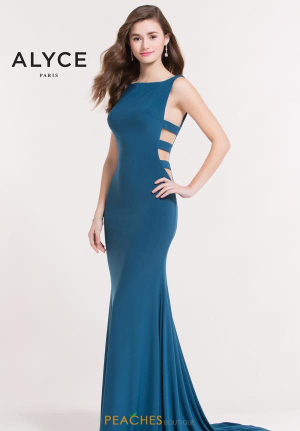 Alyce Paris Fitted Jersey Dress 8044