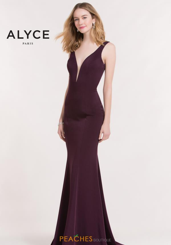 Alyce Paris V- Neckline Fitted Dress 8051