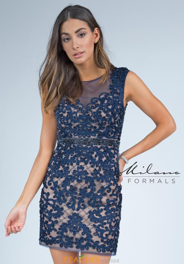 Milano Formals Fitted Short Dress E2213