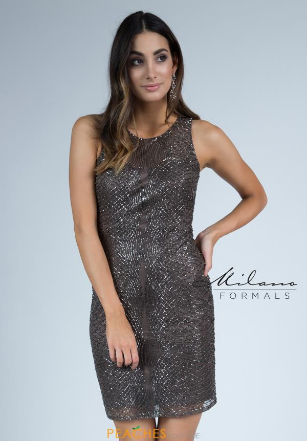 Milano Formals Beaded Short Dress E2251