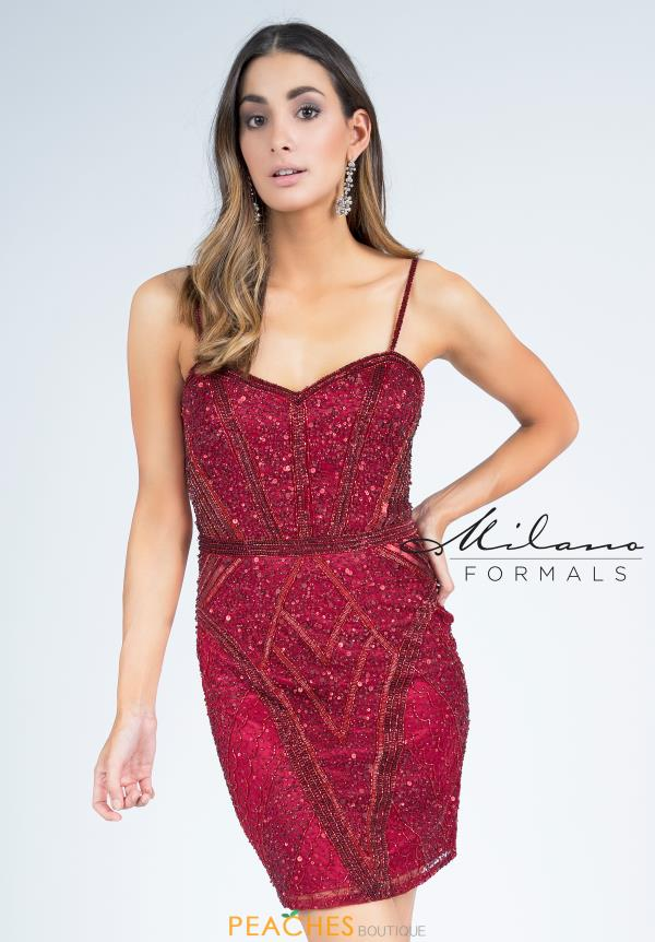 Milano Formals Beaded Short Dress E2257