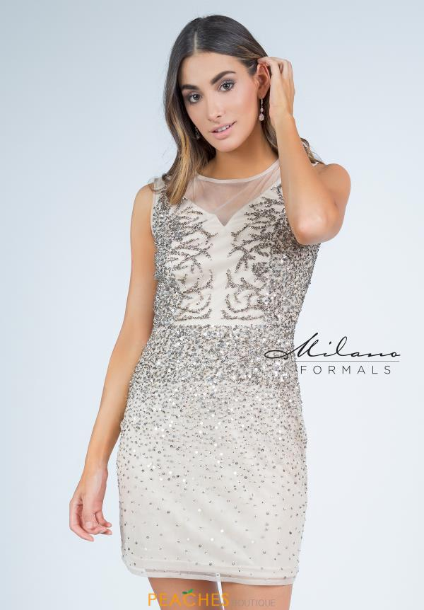 Milano Formals High Neckline Fitted Dress E2269