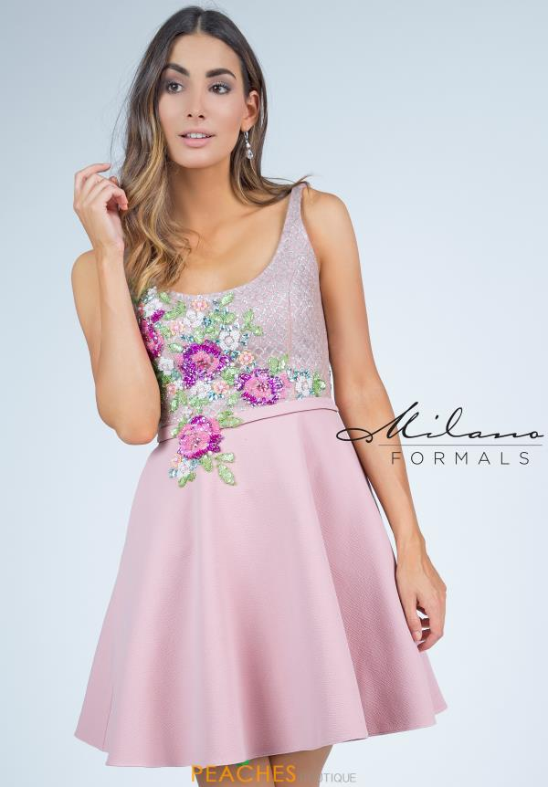 Milano Formals Print Short Dress E2280
