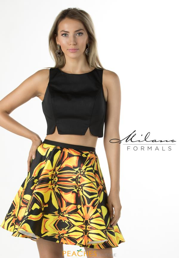 Milano Formals Two Piece Print Dress E2282