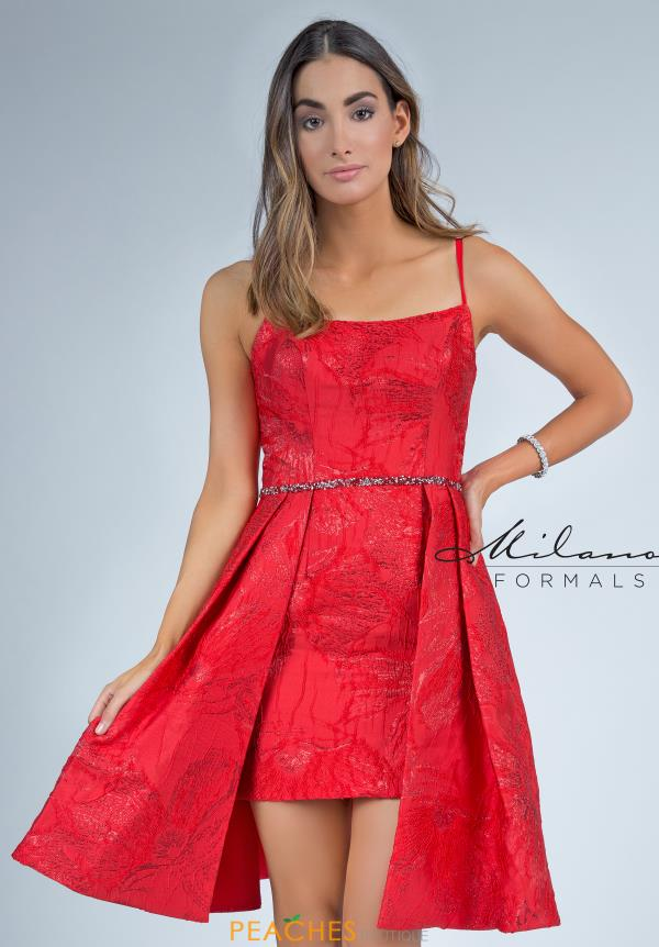 Milano Formals Short Red Dress E2292