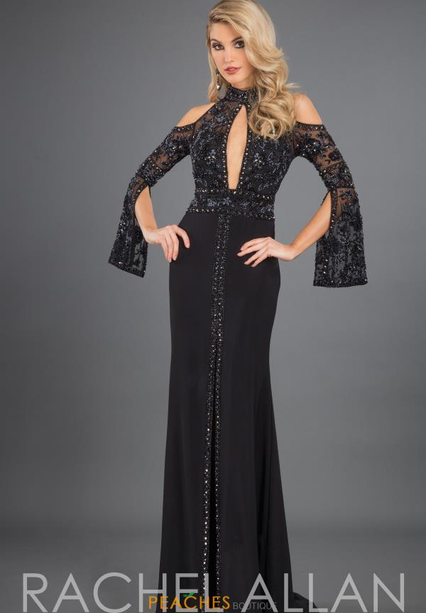 Rachel Allan Long Sleeve Beaded Dress 8265