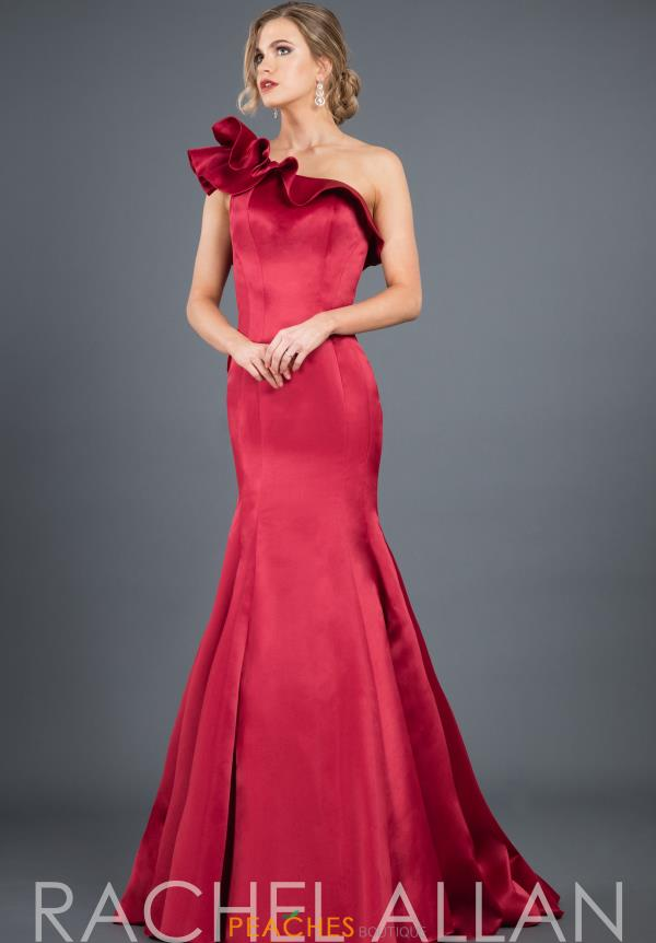 Rachel Allan Single Shoulder Mermaid Dress 8283