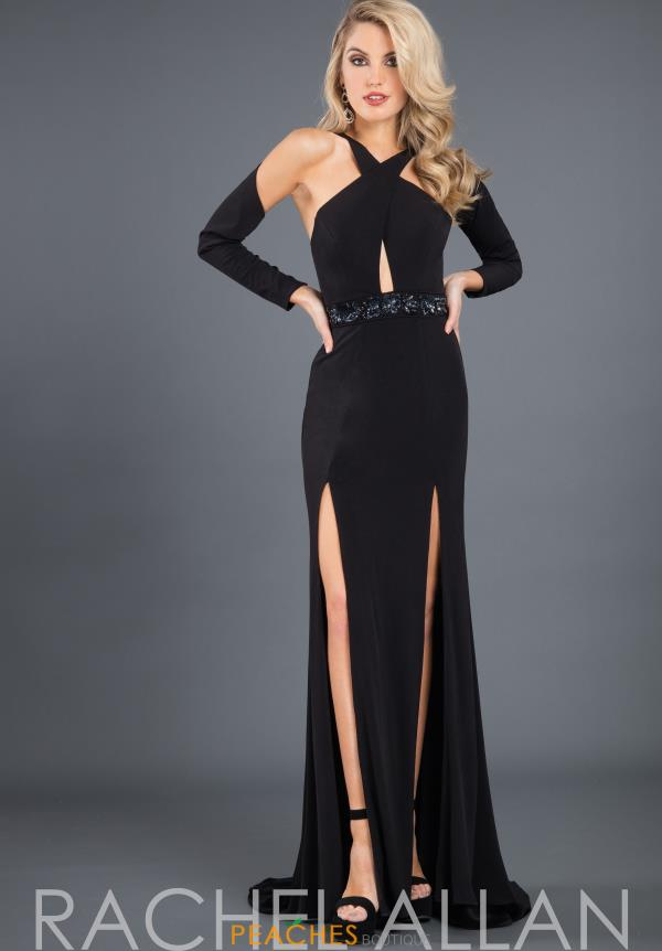 Rachel Allan High Neckline Fitted Dress 8287