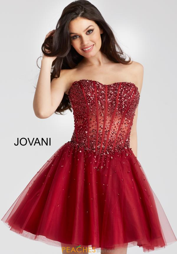 Jovani Short Dress 55142 | PeachesBoutique.com