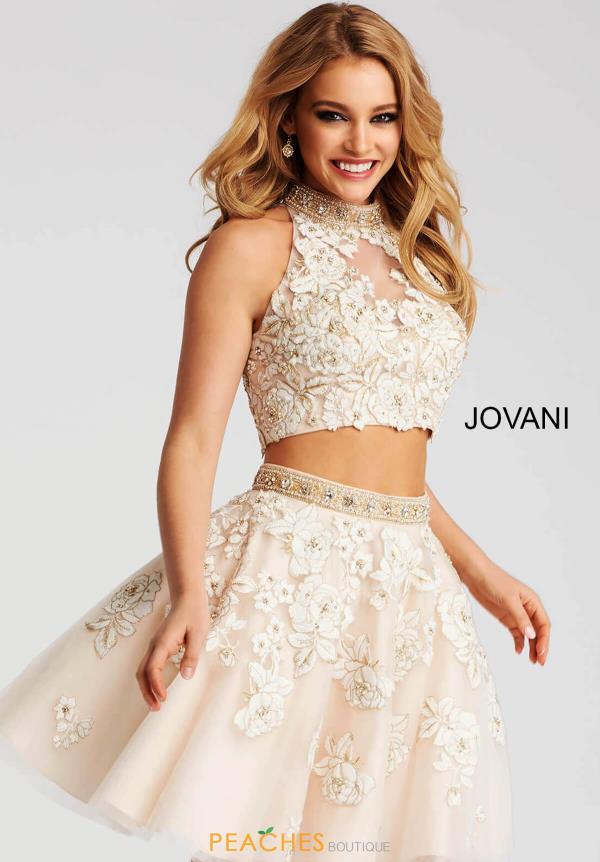 Jovani Short Dress 53087 | PeachesBoutique.com