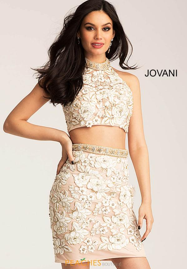 Jovani Cocktail Lace Dress 55241