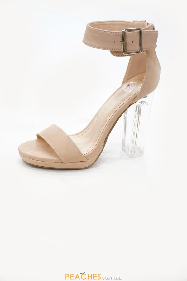 Cargo clear heels by Fortune Dynamic