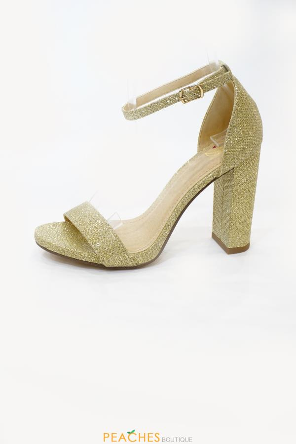 Shiner ankle strap heels by Fortune Dynamic