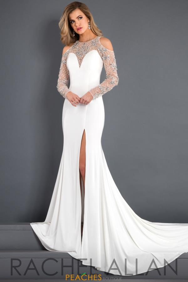 Prima Donna Pageant Long Sleeve Beaded Dress 5943