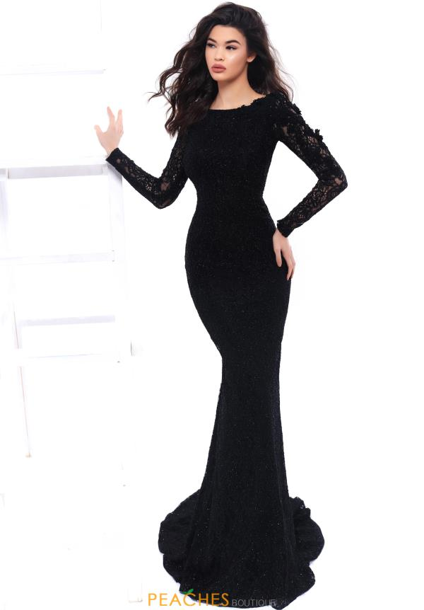 Tarik Ediz Long Sleeve Fitted Dress 93306
