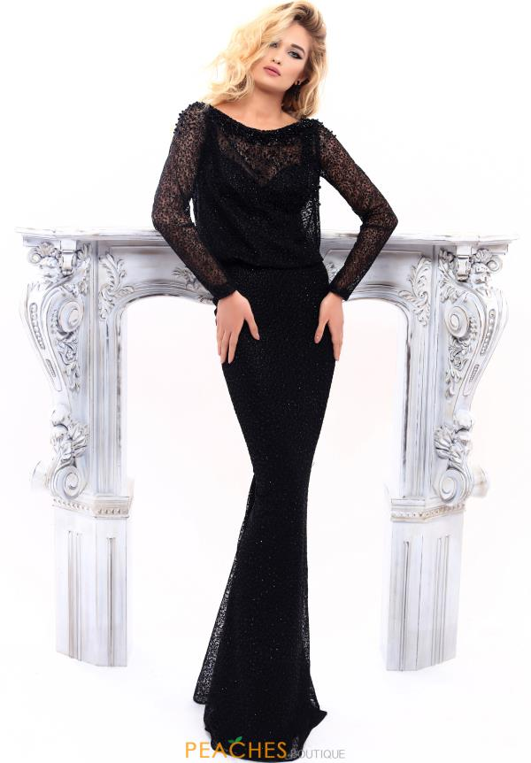 Tarik Ediz Sleeved Fitted Dress 93312